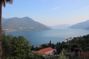 Brissago mit Blick über den Lago Maggiore