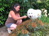 Gartenarbeit mit meiner großen Menschin