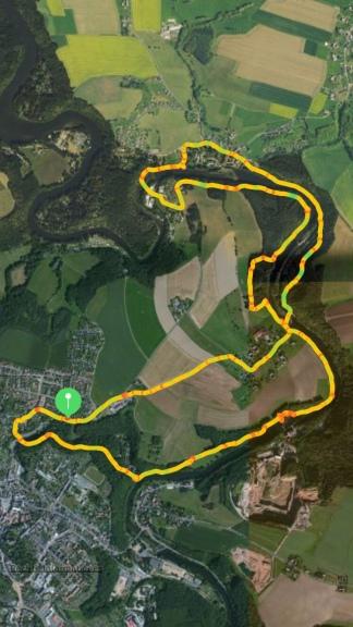 So eine große Runde: 10,5 km, 2:50 Stunden