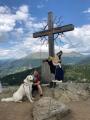 Am Gipfelkreuz der Panoramaalm