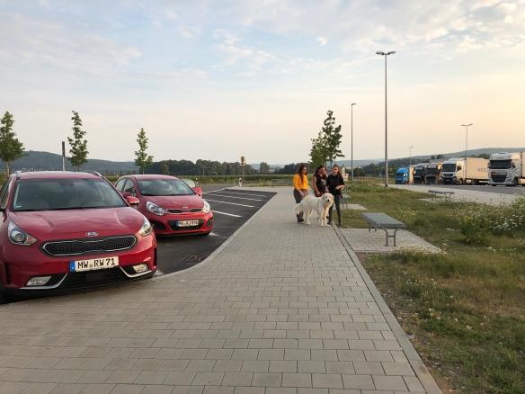 Frühstückspause am Parkplatz Peuntbach