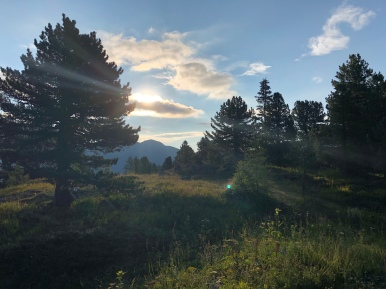 Sonnenaufgang über der Turracher Höhe