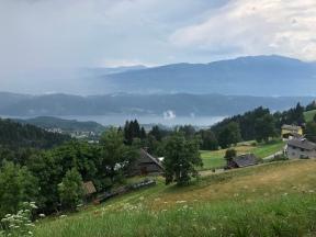 Blick von der Millstätter Alpenstraße zum Millstätter See