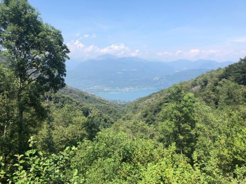 Unser Blick auf den Lago Maggiore