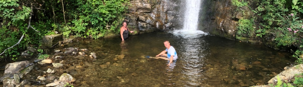 Unser kleiner See am Wasserfall