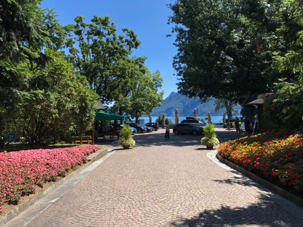 Der Eingang zum Ente Giardini Botanici Villa Taranto in Verbania