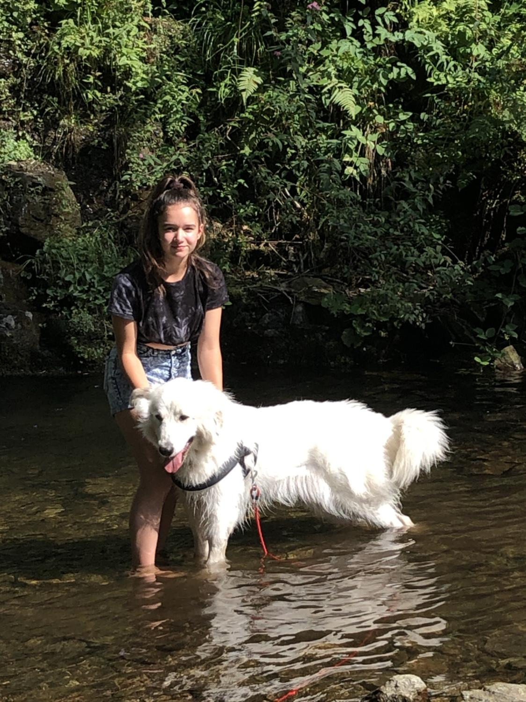 Zwei am Wasserfall